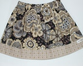 Clearance Sale Skirt in Black and Tan Floral Size 5