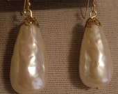 Miriam Haskell Baroque Pearl Earrings, Gorgeous