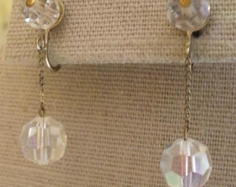 Vogue (Signed)Aurora Borealis Crystal  Earrings