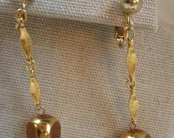 Vtg. Bergere' Earrings, Vintage Earrings, 1980 Jewelry