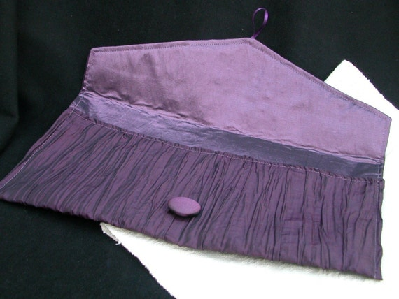 Amethyst envelope clutch, large- made to order