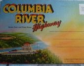 Accordion Style Postcard Columbia River Highway Oregon circa 1950s or 60s