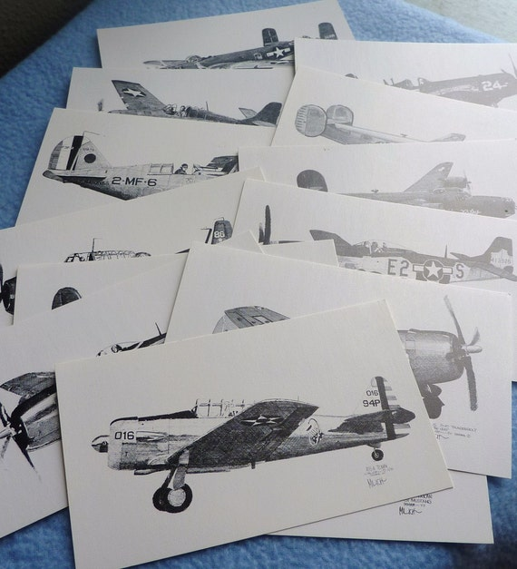 Vintage Airplane Postcards Lot of 13