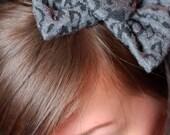 Postlapsaria Handmade, OOAK Leopard Print Bow, Elastic Headband