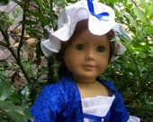 Colonial Felicity Dress /18 inch doll  Made to order ONLY as Matching girls dress