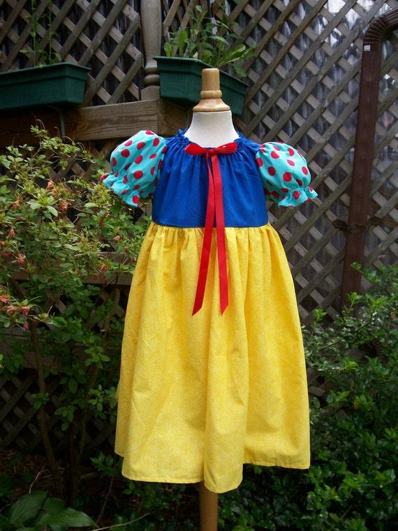 "Snow White Dress /Costume Girls size 3/4 ""REady to Ship"""
