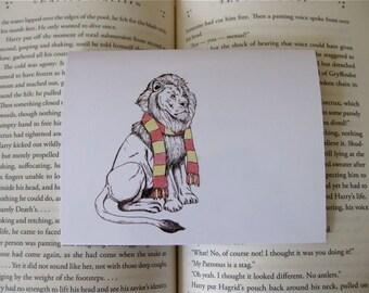 Gryffindor Lion Card