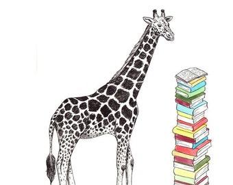 Giraffe 5x7 Print