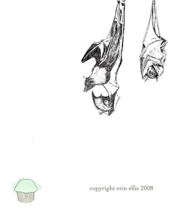 Bats 8x10 Print