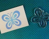 butterfly clear polymer rubber stamp