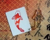 koi fish clear polymer rubber stamp