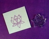 lotus blossom clear polymer rubber stamp