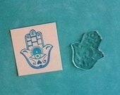 Hamsa clear polymer rubber stamp