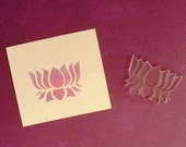 lotus symbol clear polymer rubber stamp