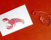 crawdad/crayfish clear polymer rubber stamp