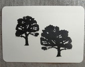 mossy oak trees clear polymer rubber stamp set
