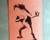 courting/proposing/pleading frog clear polymer rubber stamp