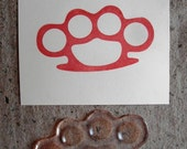 brass knuckles clear polymer rubber stamp