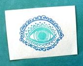 embellished eye clear polymer rubber stamp