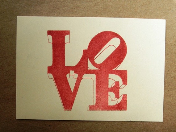 Philadelphia Love statue clear polymer rubber stamp