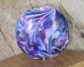 Handmade Lampwork Focal Bead Purple N Blue