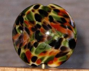 Handmade Lampwork Focal Bead Autumn Shades