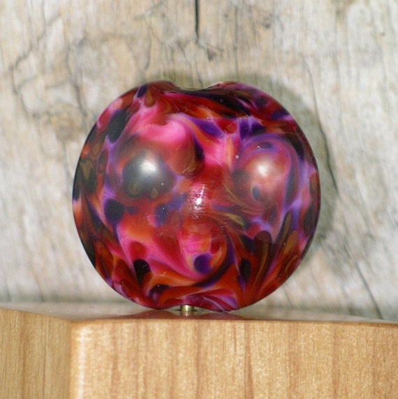 Handmade Lampwork Focal Bead Berry Cherry