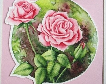 Original Roses Watercolor Painting