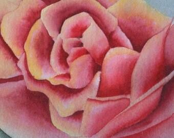 Original Rose Watercolor Painting