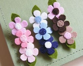 You Pick the Colors - Trio of Flowers Hair Clip