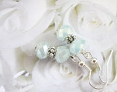 Opalite Crystal Earrings in Pale Blue