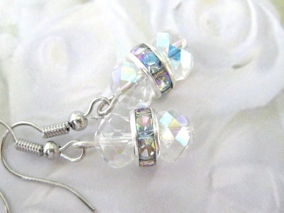Sparkly Crystal Glass Earrings