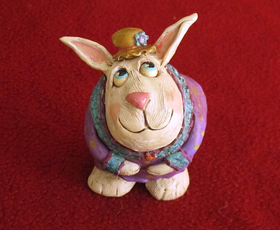 Lil' Miss Bunny Rabbit: OOAK Easter decoration or gift
