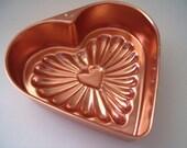 Copper Aluminum Heart Jello Mold