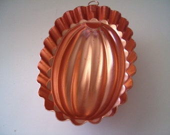 Copper Aluminum Oval Jello Salad Mold