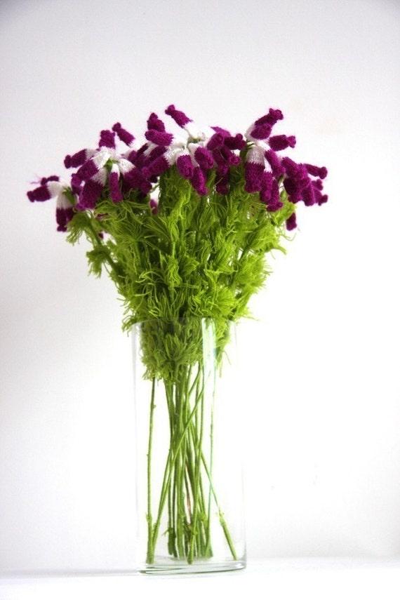 Crochet flowers - Home Deco - Table Set - Bouquet - Crochet Erica