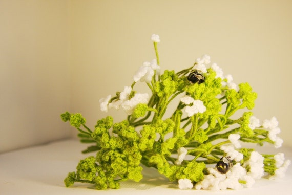 Crochet flowers - Home Deco - Table Set - Bouquet -Baby's Breath