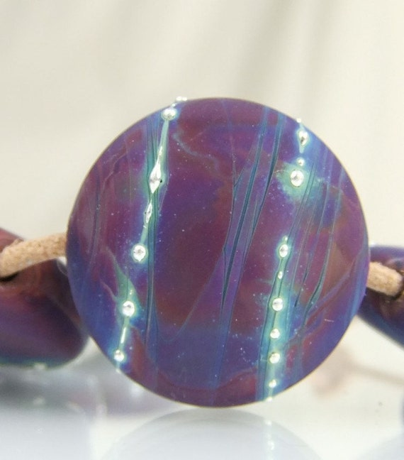 Etched Lampwork Bead Set