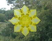 Waldorf Window Star with 8 Diamond Points made from Yellow Paper