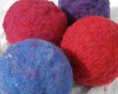 Wool Felt Ball Toy - 1 All Natural Ecofriendly Tactile Play Toy