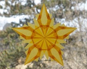 Gold Eco Friendly Window Star