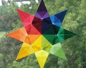 Rainbow Mandala Waldorf Window Star