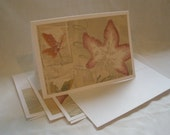 4 Floral Wildflower & Seed Gathering 5x7 Notecards with Matching Envelopes