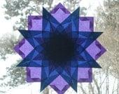 Blue and Purple Waldorf Inspired Window Star Suncatcher