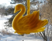 Beeswax Swan Impression - All Natural Hand-Crafted Year Round Ornament for A Window or Potpourri Dish - aaad teamecoetsy HMET teamkq  uuteam
