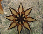 Brown Window Star Autumn Sun Catcher Fall Equinox Holiday Home Decor Sustainable Natural Home Decoration HandmadeMN  minnesota SHEteam