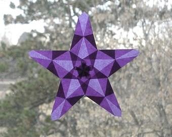 Amethyst Waldorf Window Star with 5 Points