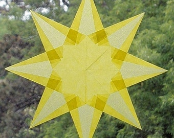Yellow Waldorf Inspired Origami Window Star