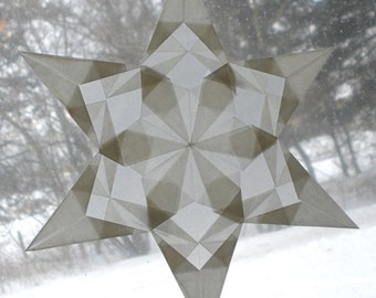 White Window Star with 6 Points