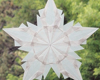 White 5-Pointed Waldorf Window Star